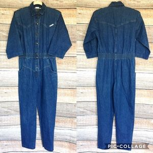 Vintage 80s Denim Coverall Jumpsuit 100% Cotton